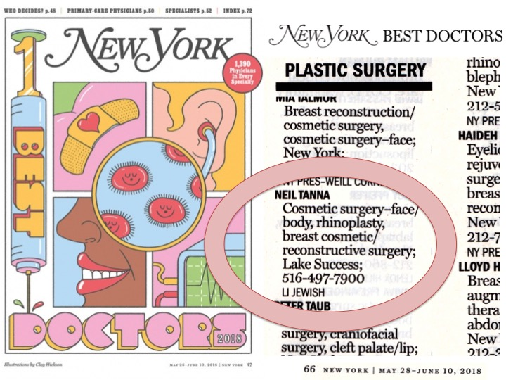 Dr. Neil Tanna named again to New York Magazine Top Doctors List
